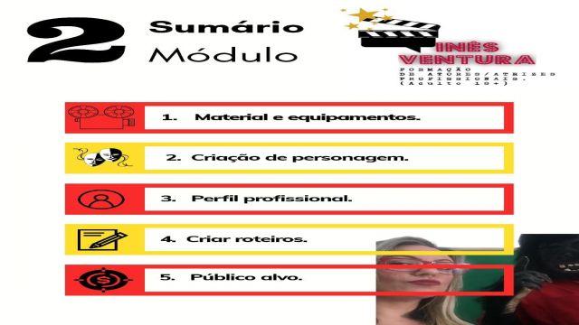 Modulo 2 curso atores profissionais